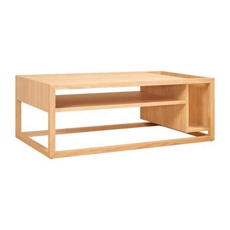 Kott Table Basse Avec Bar En Chêne Habitat  Table Basse