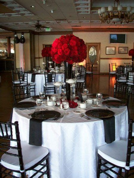 red and black table ls tablecloth rental tablecloths and white tables on pinterest