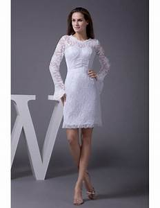 fitted short wedding dresses with lace sleeves unique long With long dresses for wedding reception
