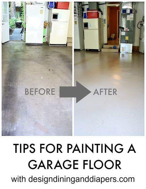 garage floor paint tips how to paint a garage floor tips on an easy diy painting project