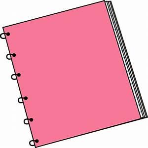 Pink Spiral Notebook Clip Art - Pink Spiral Notebook ...