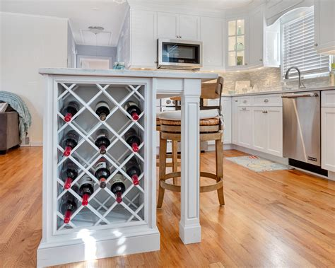 kitchen island with wine rack custom shore kitchen bradley new jersey by design