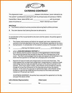 contract photos of catering contract template catering With catering contracts templates