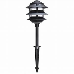 hpm 12v black classic tier halogen garden light bunnings With bunnings 12v outdoor lighting