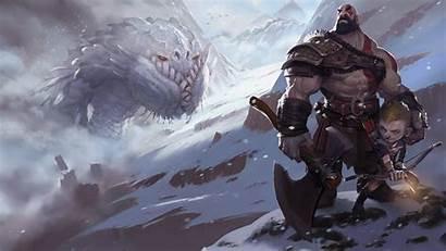God War Kratos Wallpapers Fanart Atreus Theme