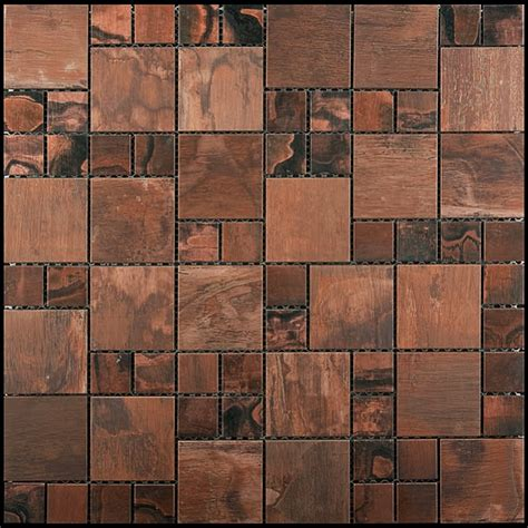 copper mosaic tile copper mosaic tile futura patina copper mixed size