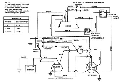 Schematic And Wiring Diagram by Snapper 381451hbve 84393 38 Quot 14 Hp Rer Hydro Drive