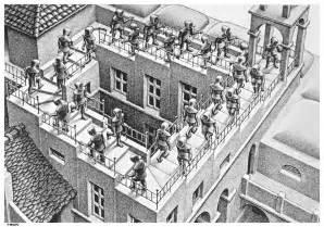 Escher M Optical Illusion Art Stairs
