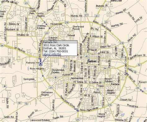 Map for Dothan - Ramada Inn