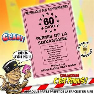 Cadeau Homme 60 Ans : permis de la 60 aine ~ Teatrodelosmanantiales.com Idées de Décoration