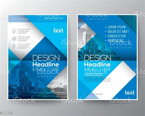 blue brochure annual report cover flyer poster design