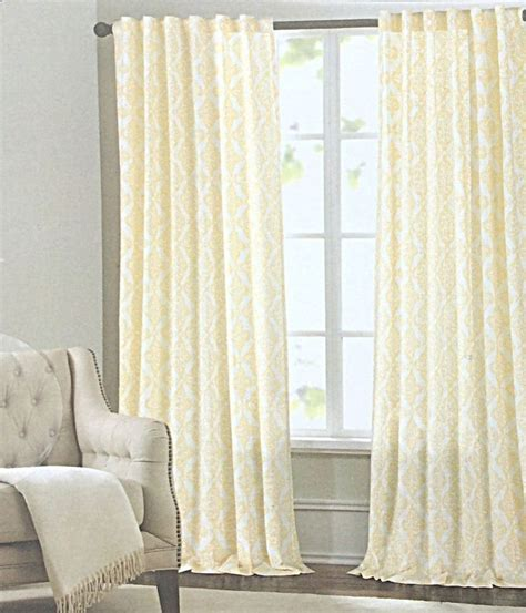 Tahari Home Curtains Yellow by Tahari Yellow White Damask Medallions Window Panels Drapes