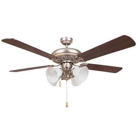 home decor ceiling fans y decor wooster 52 in satin nickel ceiling fan wooster