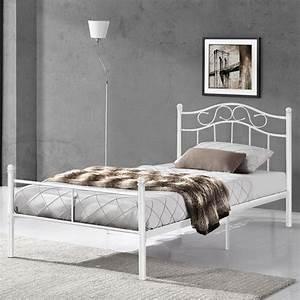 Bettgestell 120x200 Weiß : metallbett 120x200 wei bettgestell real ~ Frokenaadalensverden.com Haus und Dekorationen