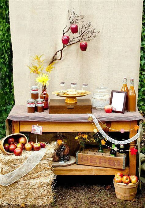 apple themed autumn engagement party celebrations  home