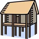 Clipart Stilts Haus Houses Stelzen Flooding Hochwasser