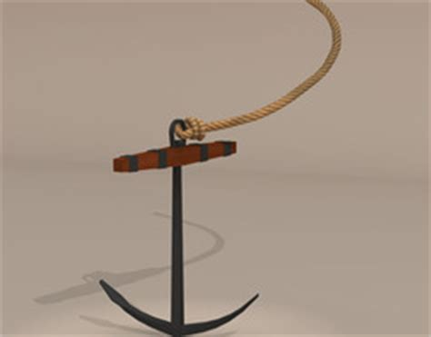 Boat Anchor Dwg by Sail 3d Models 3d Sail Files Cgtrader