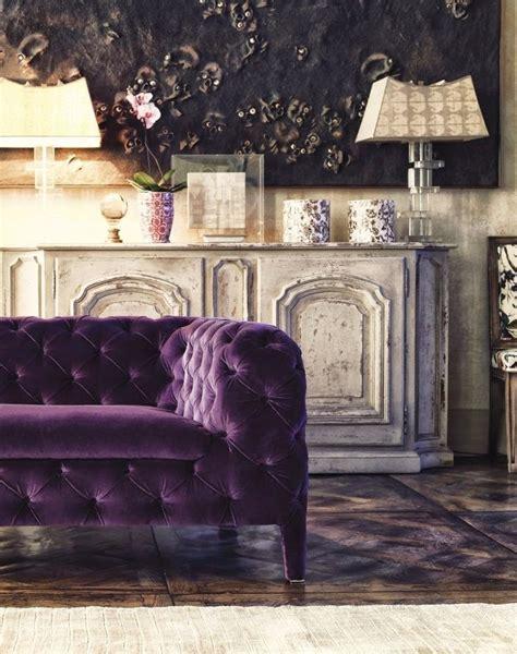 Velvet Purple Sofa by 12 Royally Purple Velvet Sofas For The Living Room