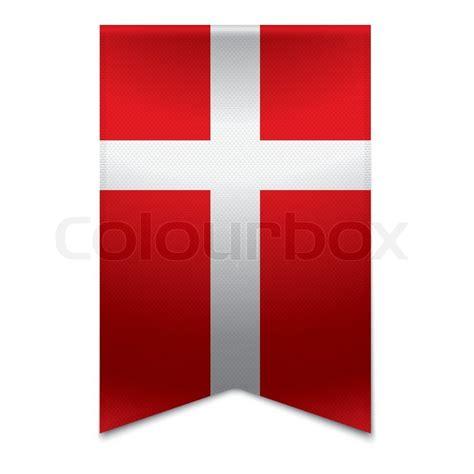 band banner dansk flag stock vektor colourbox