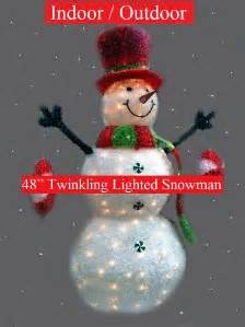 philips snowman 48 quot led lighted twinkling indoor outdoor christmas decoration ebay