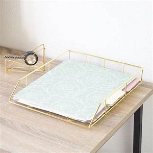 Amazoncom u brands hanging file desk organizer wire for Gold letter rack