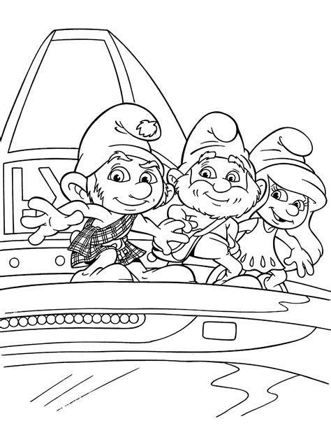 Kleurplaat Smurfen 1 by Smurfs Coloring Pages For Printable Free
