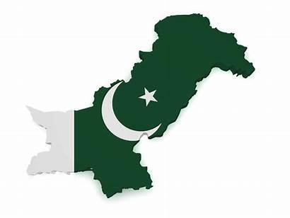 Pakistan Map Flag 3d Shape Background Isolated