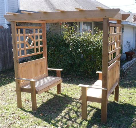 Arbor With Bench by New All Cedar Wood Garden Arbor Bench Arch 2