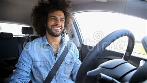 Royalty Free Stock Photo Man Driving Happy Listening