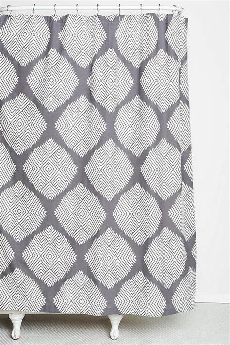 magical thinking diamond tile shower curtain urban