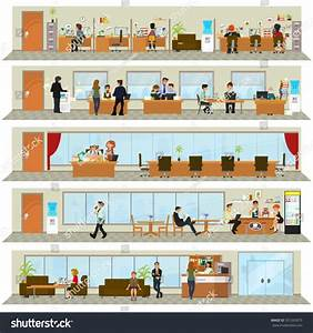 Workday Office Building People Interior Building Stock ...
