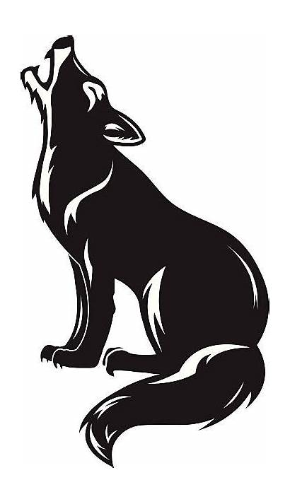 Wolf Howling Vector Coyote Pack Clip Vectors