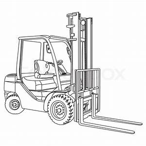 The Best Free Forklift Drawing Images  Download From 92