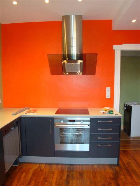 coloris peinture cuisine exemple cuisine orange une peinture orange cuisine