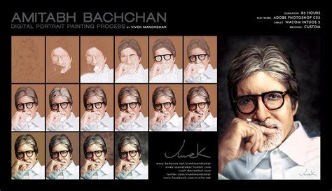 amitabh bachchan digital painting walkthrough by vvolt on