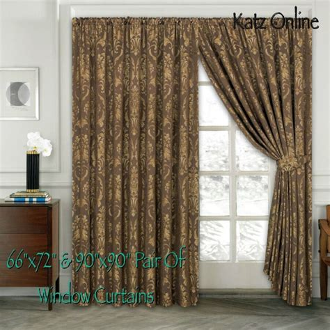 Heavy Curtains by Heavy Jacquard Curtain Pair Of Pencil Pleat Window