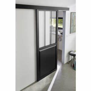 Porte Coulissante Applique : porte coulissante atelier noire 83cm syst me en applique ~ Carolinahurricanesstore.com Idées de Décoration