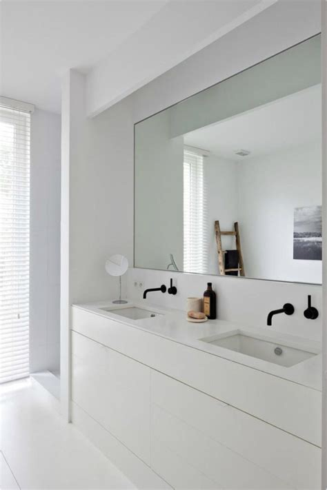 Modern Bathroom Sink And Mirror by 30 Cool Ideas To Use Big Mirrors In Your Bathroom Digsdigs