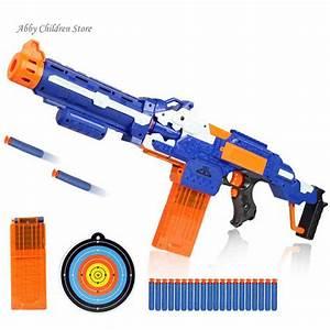 Soft Bullet Toy Gun Sniper Rifle Nerf Plastic Gun & 20 ...
