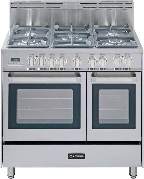 verona vefsgendss   pro style dual fuel double oven range   sealed burners  cu
