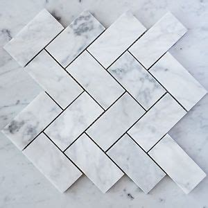pictures of kitchen floor tiles carrara marble herringbone large mosaic tiles sheet ebay