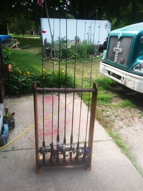 diy fishing rod rack myoutdoorplans  woodworking