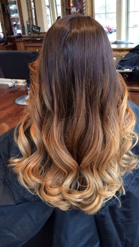 dark brown hair with light brown ombre balayage ombre hair dark brown to light brown blonde