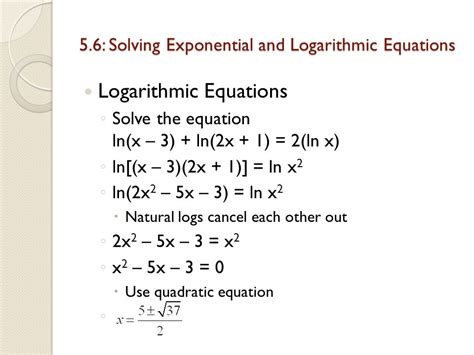 Chapter 5 Exponential And Logarithmic Functions 5  Ppt Video Online Download