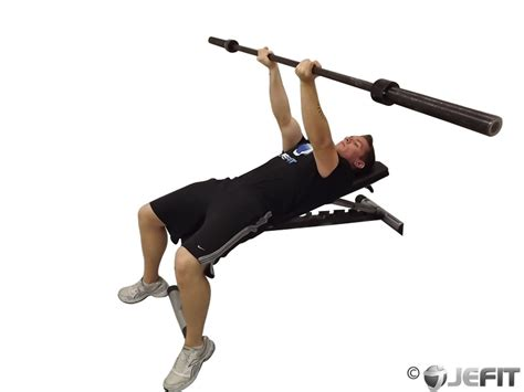 Barbell Reverse Triceps Bench Press  Exercise Database