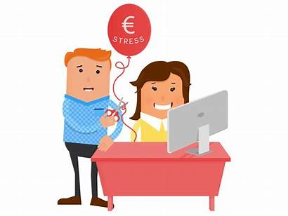 Stress Financial Clipart Employee Stressed Wellness Transparent