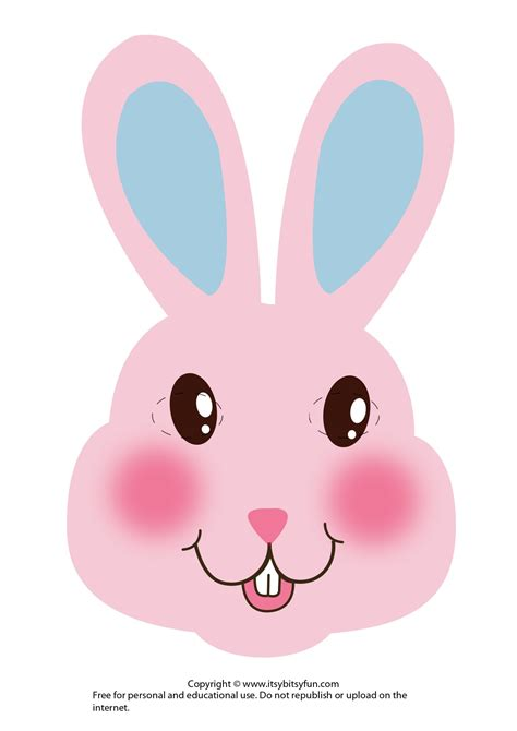 easter masks bunny rabbit  chick template