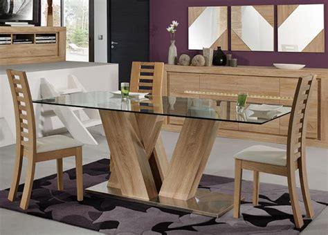 modern wood dining table wood and glass dining table and chairs modern wood and