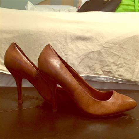 cognac colored heels 61 zara shoes zara cognac leather pumps from