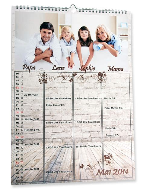 Familienkalender gestalten Terminkalender